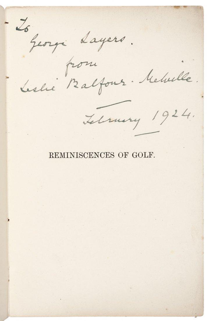 Balfour's Reminiscences 1st ed 1887