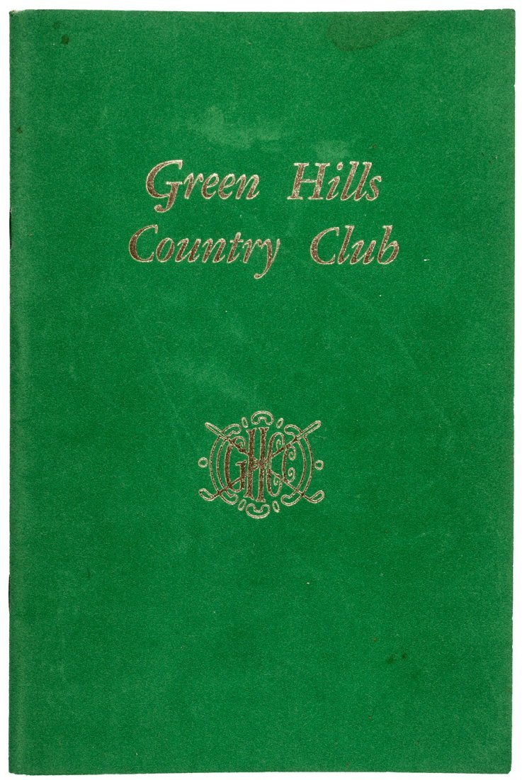 Green Hills CC club history Millbrae, CA