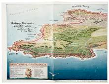 Monterey Peninsula CC golf map 1929