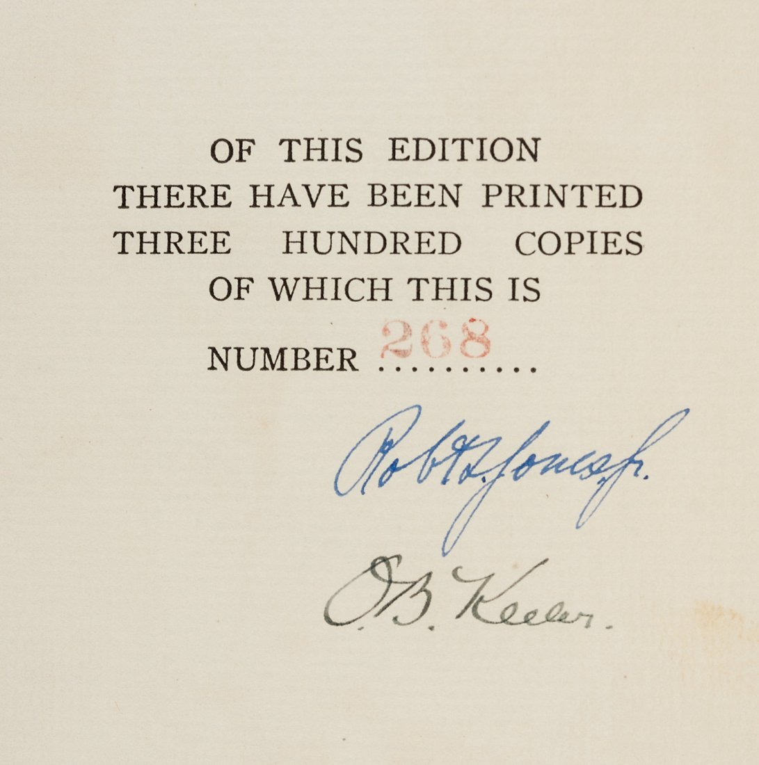 Down the Fairway signed by Bobby Jones, limited ed