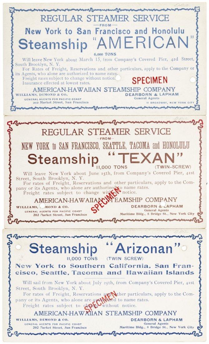 Steamer cards NY to Hawaii