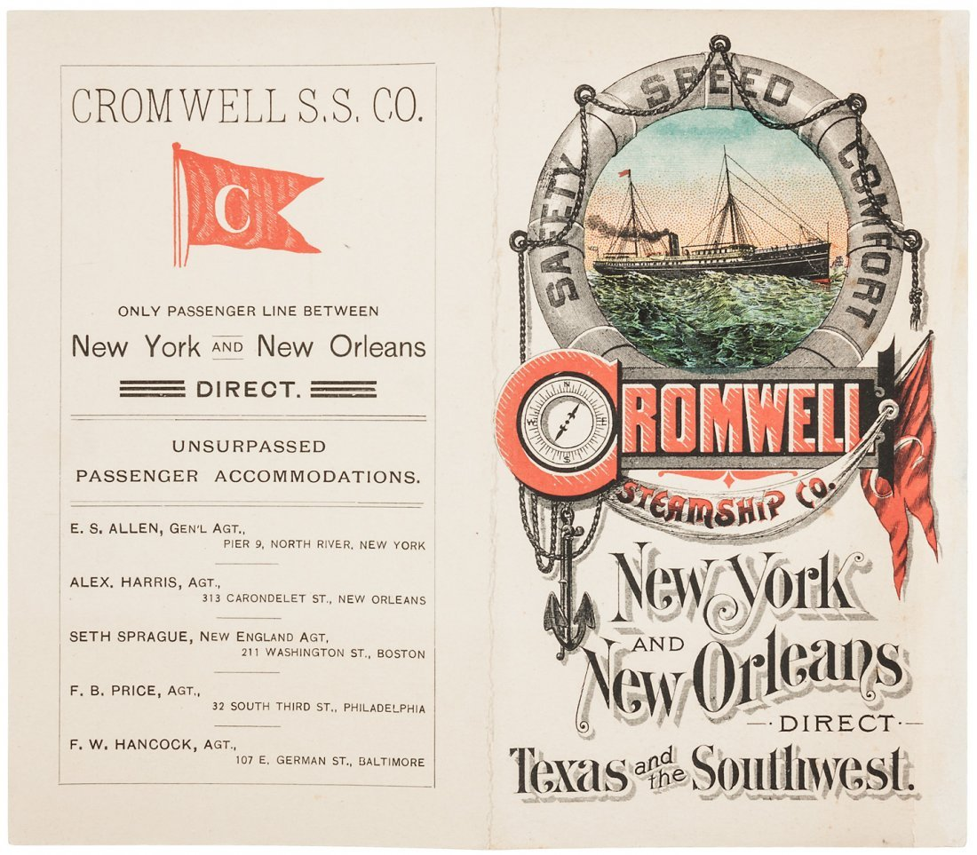 New York to New Orleans steamship flier