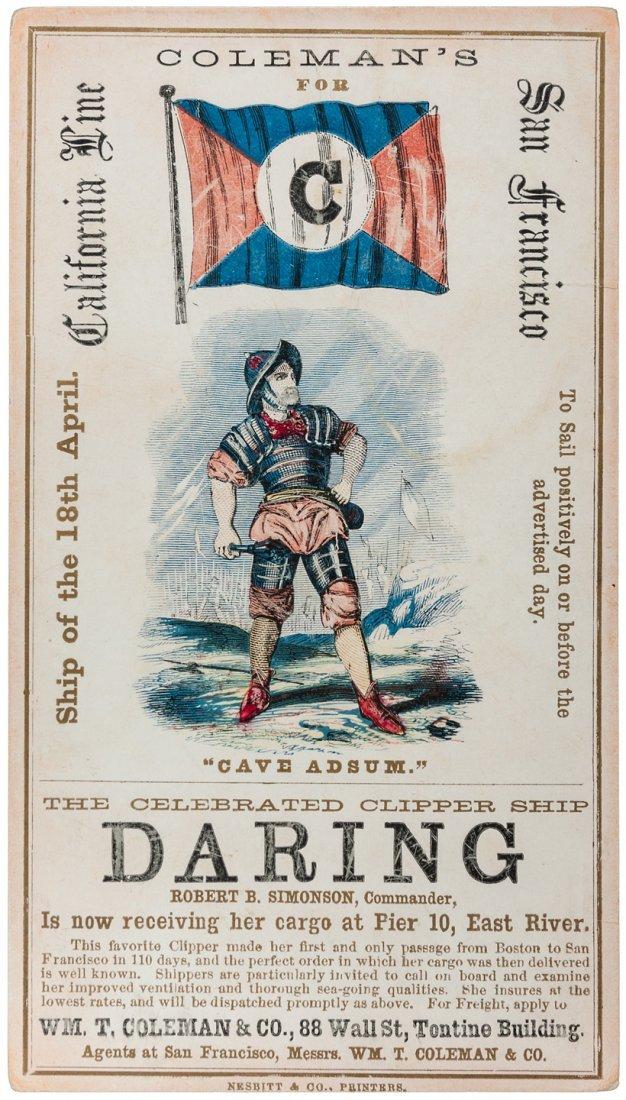 Clipper Card for ship Daring by Nesbitt