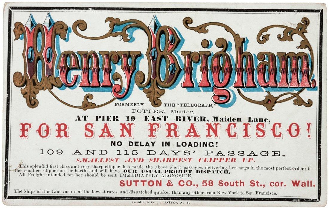 Clipper Ship Card for Henry Brigham by Nesbitt