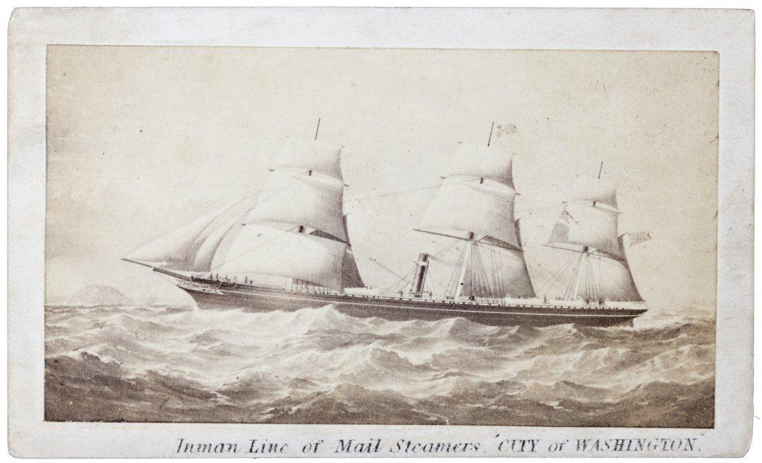 Cdv of Atlantic steamship