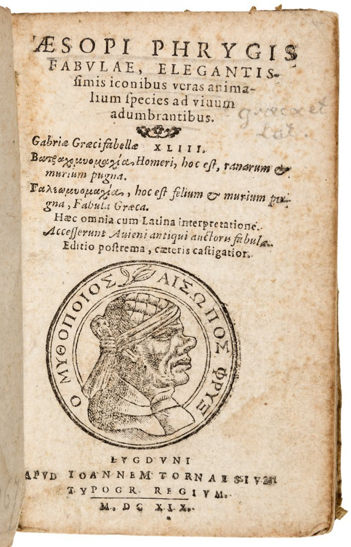 Aesop's Fables 1619 Edition