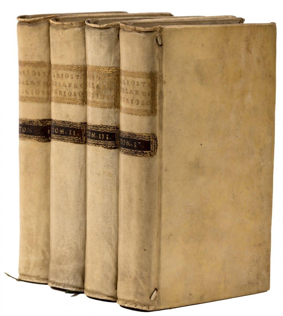Orlando Furioso 1781 London edition full vellum binding