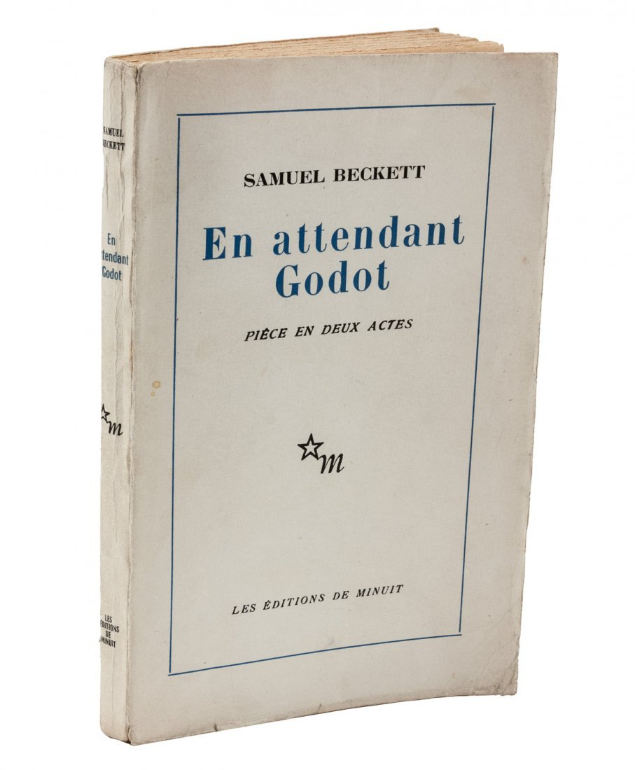 Inscribed copy of French Waiting for Godot