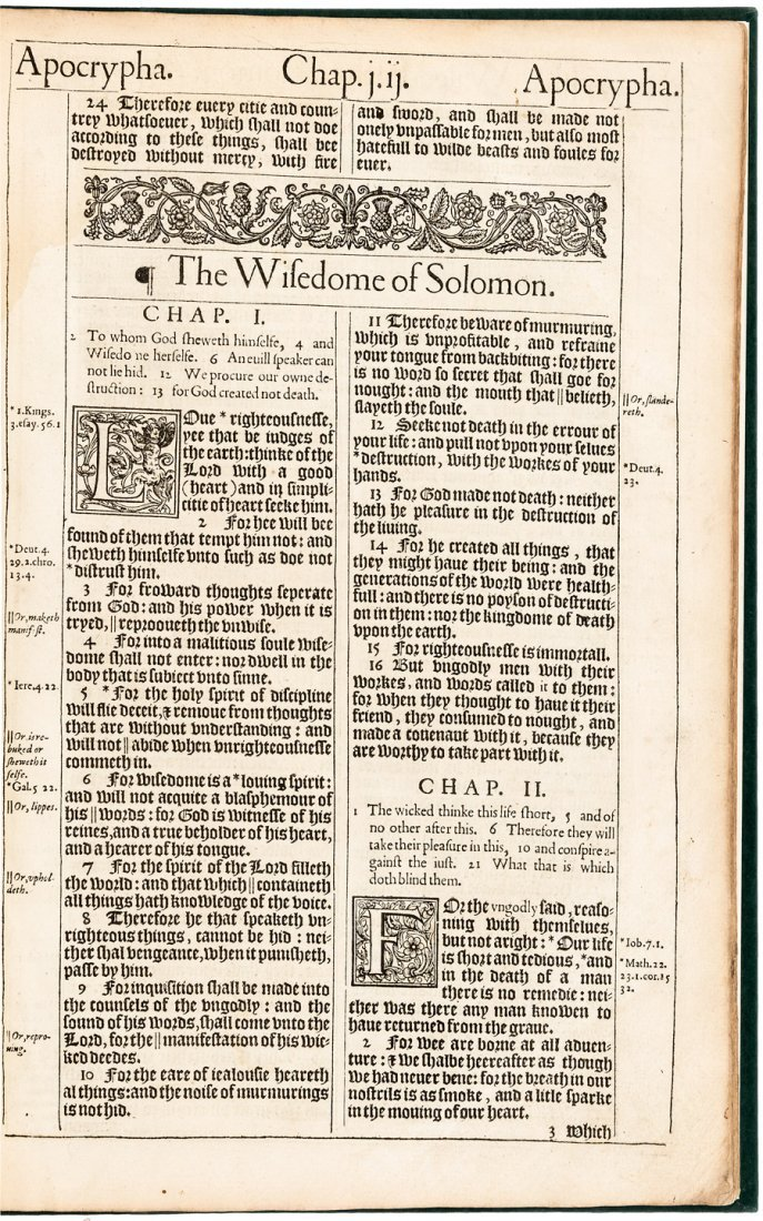 Two books from the folio King James Bible