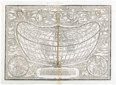 With rare cordiform world map J. Girava 1570