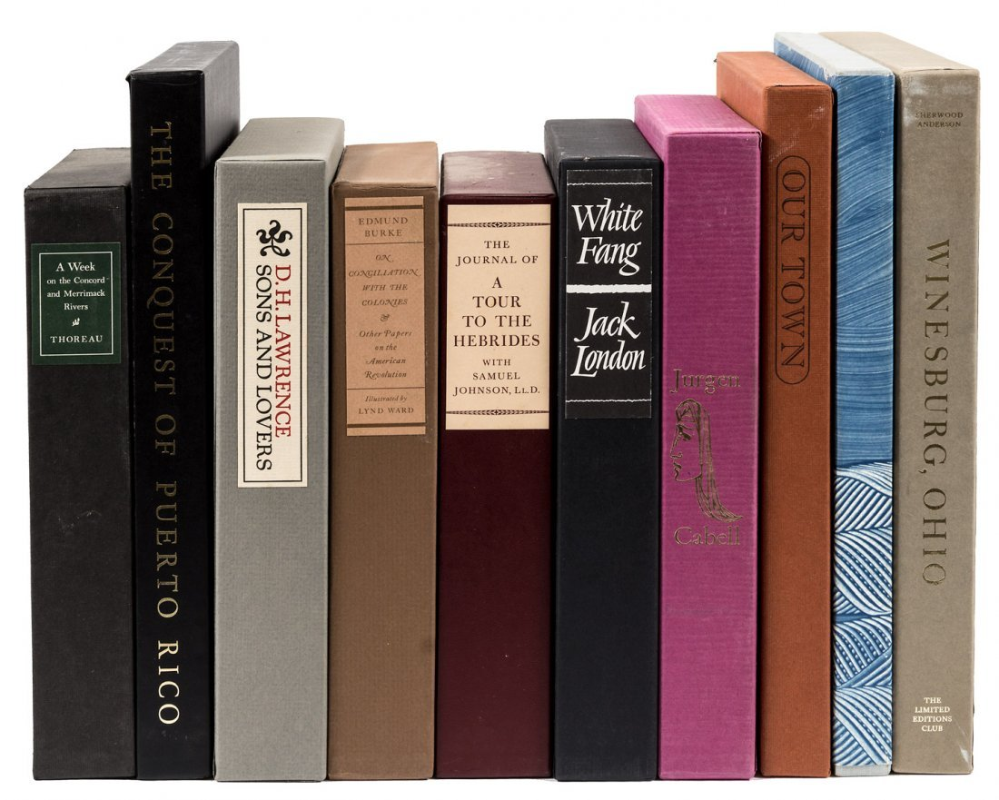 10 volumes from the Limited Editions Club