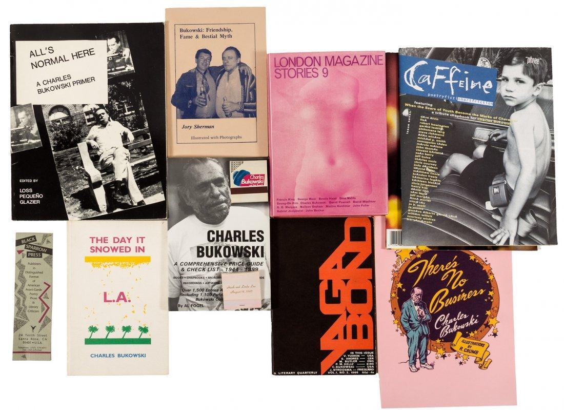 Lot of Bukowski ephemera, etc.