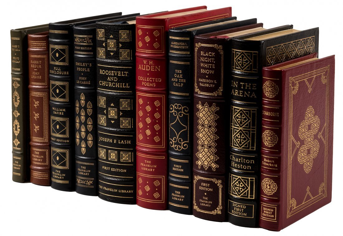 10 Franklin Library and Easton Press books