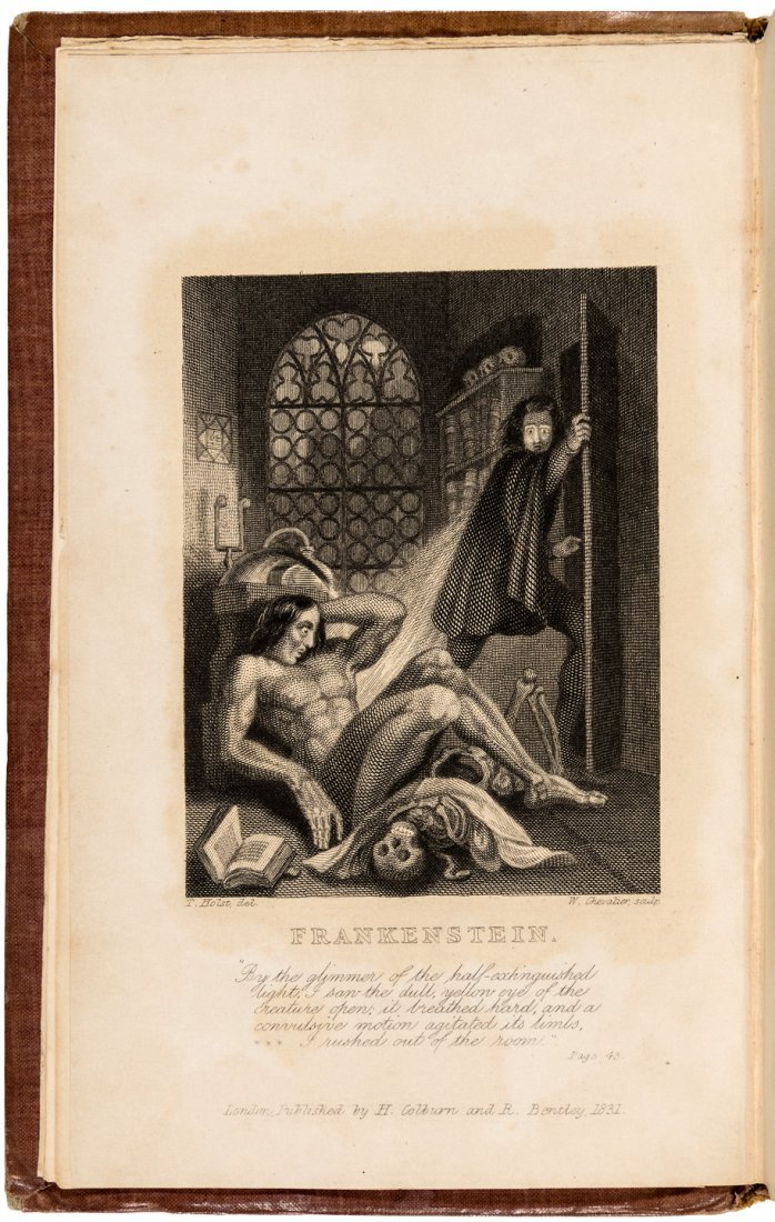 First illustrated edition of Frankenstein