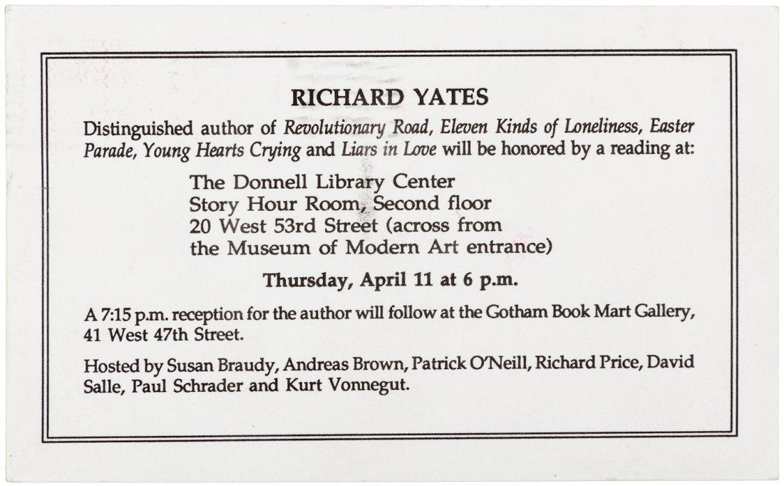 Richard Yates Cold Spring Harbor signed by Yates & - 8