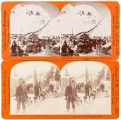 2 Stereoviews of Alaska Gold Rush, 1898-99