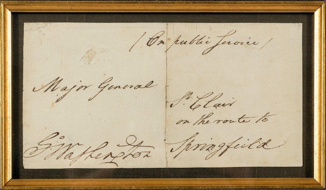 George Washington signature on envelope