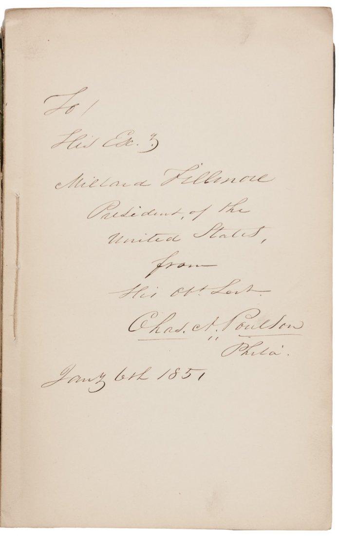 Millard Fillmore's copy of a Eulogy for Zachary Taylor