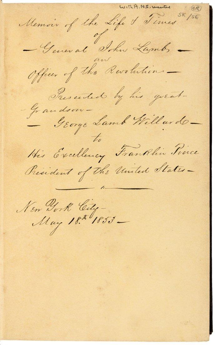 Presentation Copy inscribed to Franklin Pierce