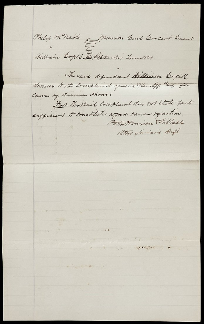 1862-69 future President Benjamin Harrison as Civ