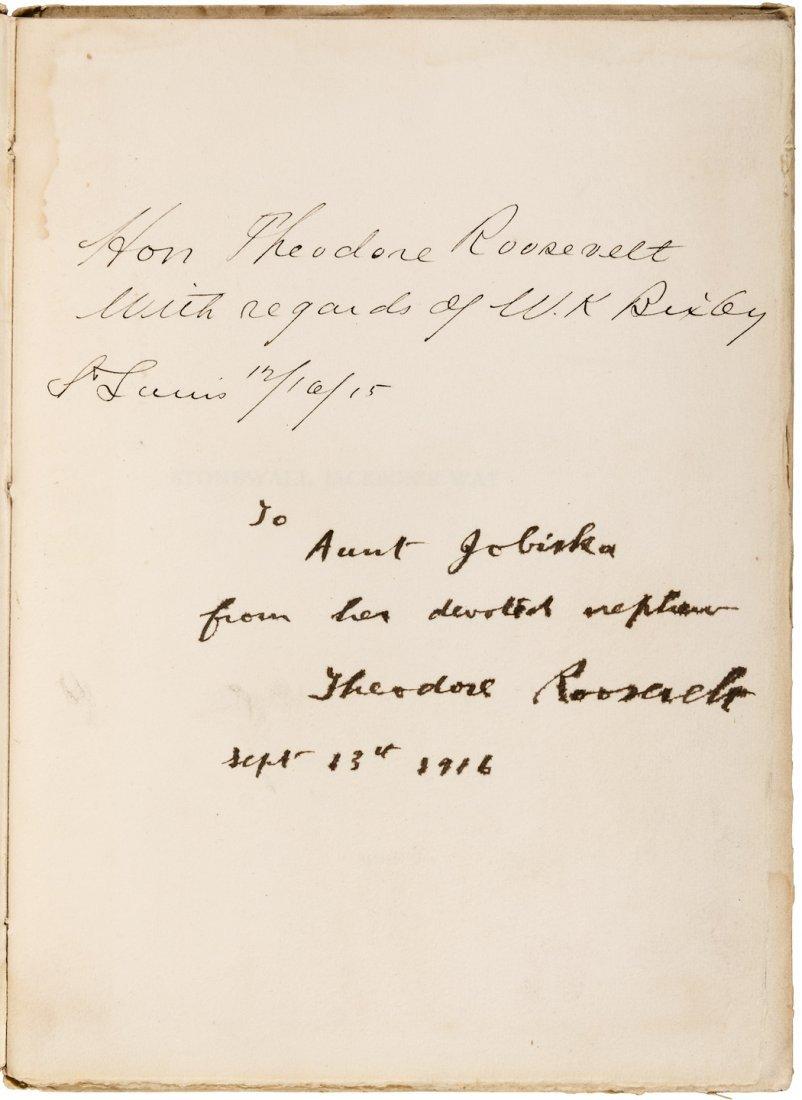 President Roosevelt inscribes books