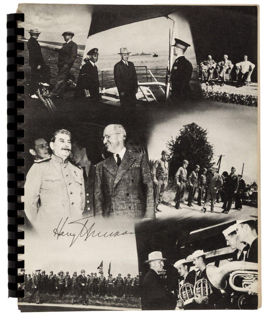 Rare Truman signed log of Potsdam Conference