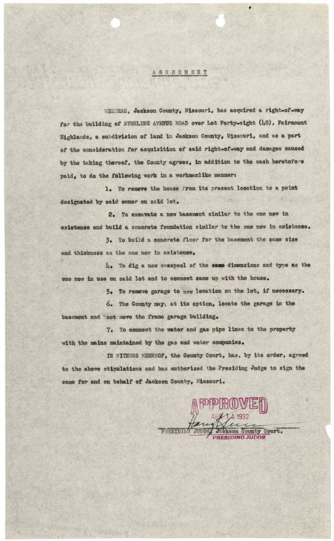 Document signed by Harry S. Truman