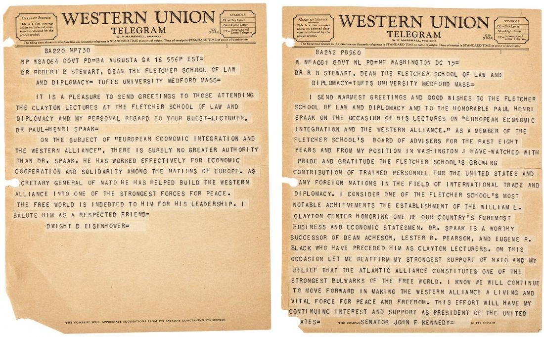 Telegraphs from Kennedy & Eisenhower