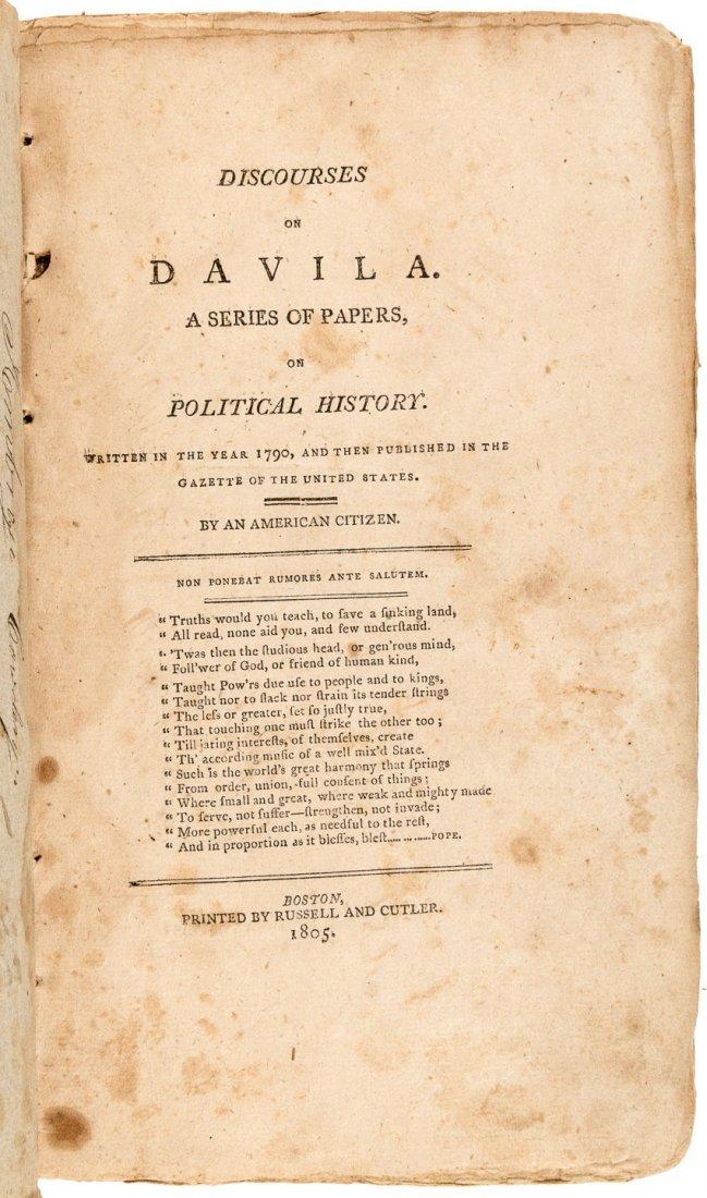 John Adams Discourses on Davila 1805