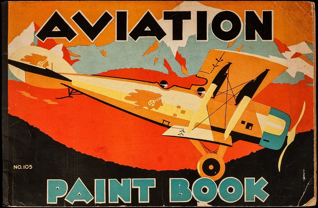 Aviation Coloring Book