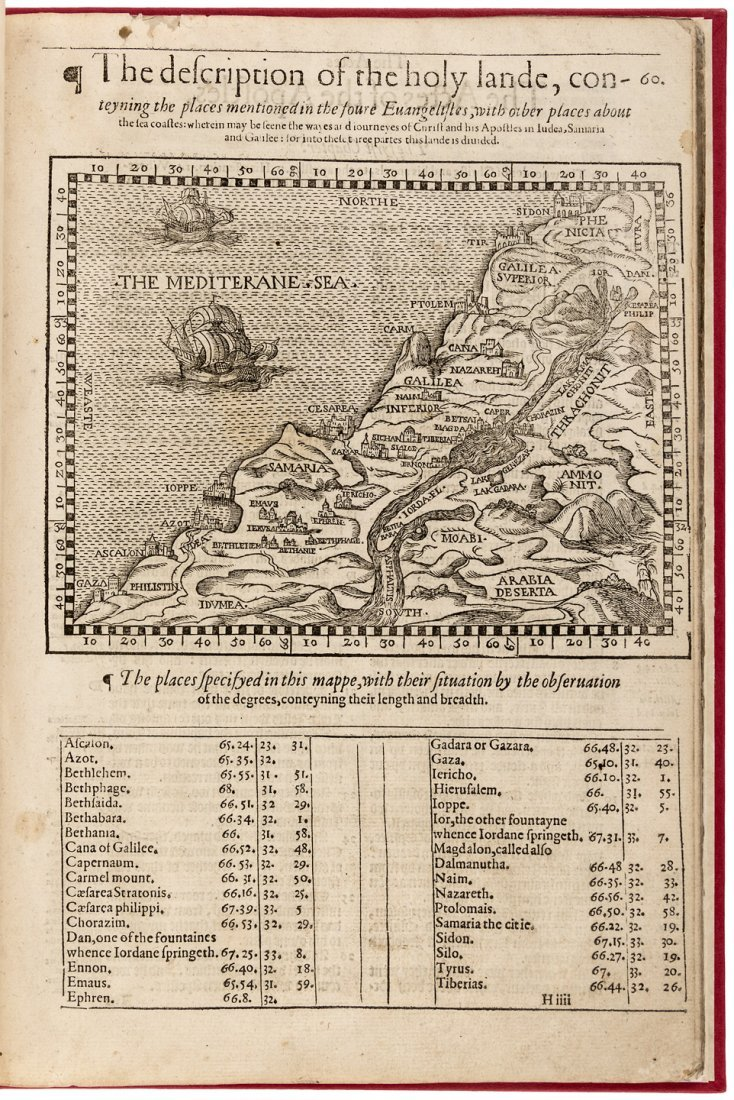 1574 Apostles Acts with Map of Holy Land
