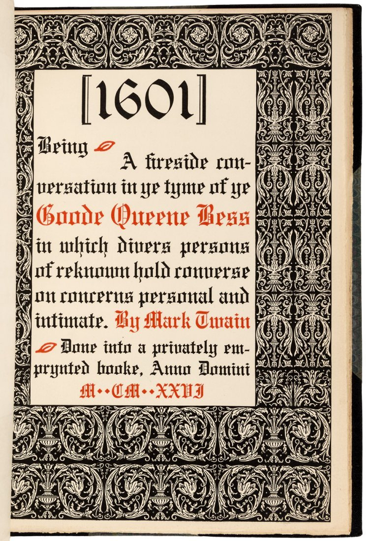 Twain's 1601 from Derrydale Press