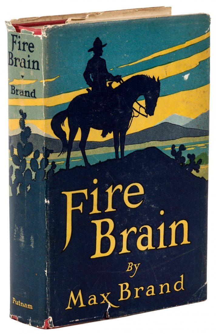 Max Brand Fire Brain in the Rare original dust jacket