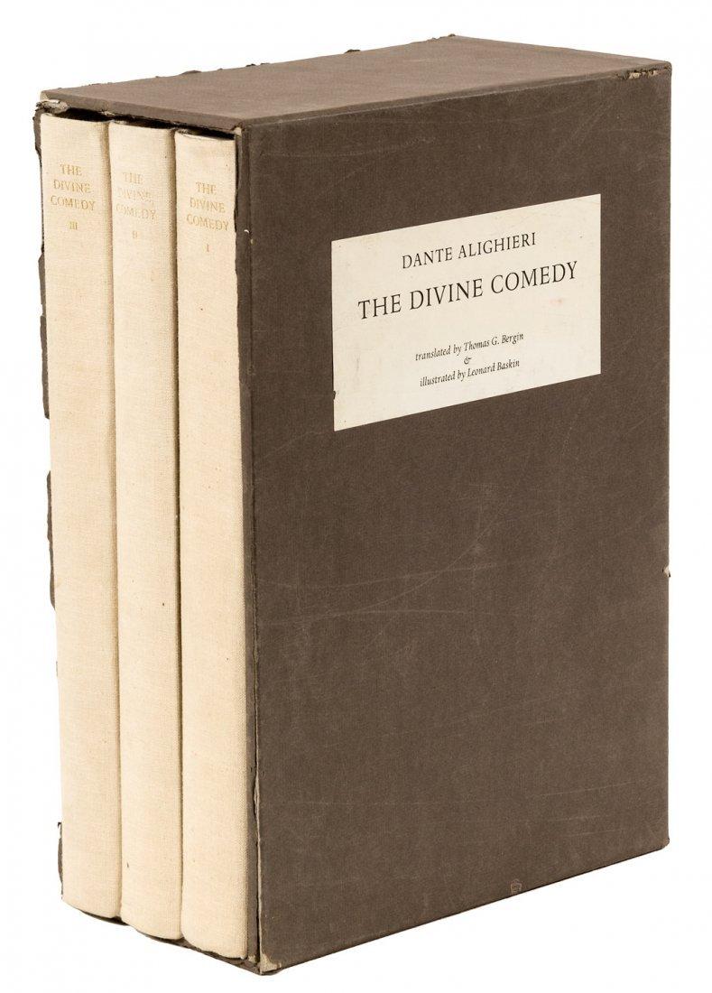 Dante's Divine Comedy inscribed from illustrator Baskin