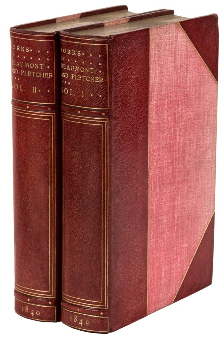 Works of Beaumont and Fletcher finely bound by Bayntun