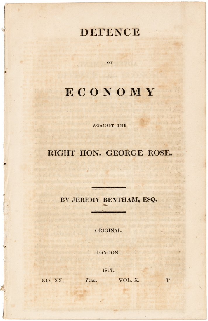 Two economic offprints by influential British