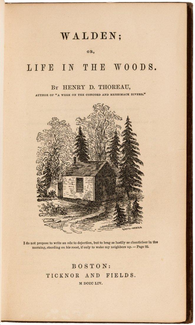 Henry David Thoureau Walden First Edition