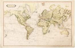 Uncommon chart of World c1840