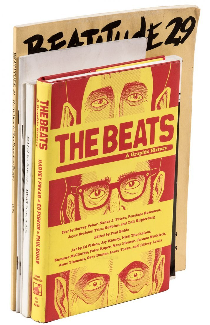 5 publications of Beat literature, a few signed by