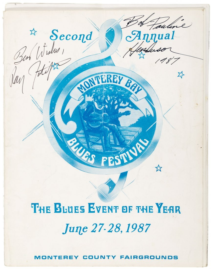 Blues Festival signed by 5 blues musicians 1987