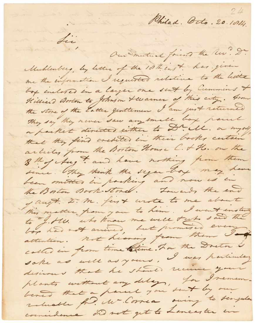 Letters to American Botanist 1814-23