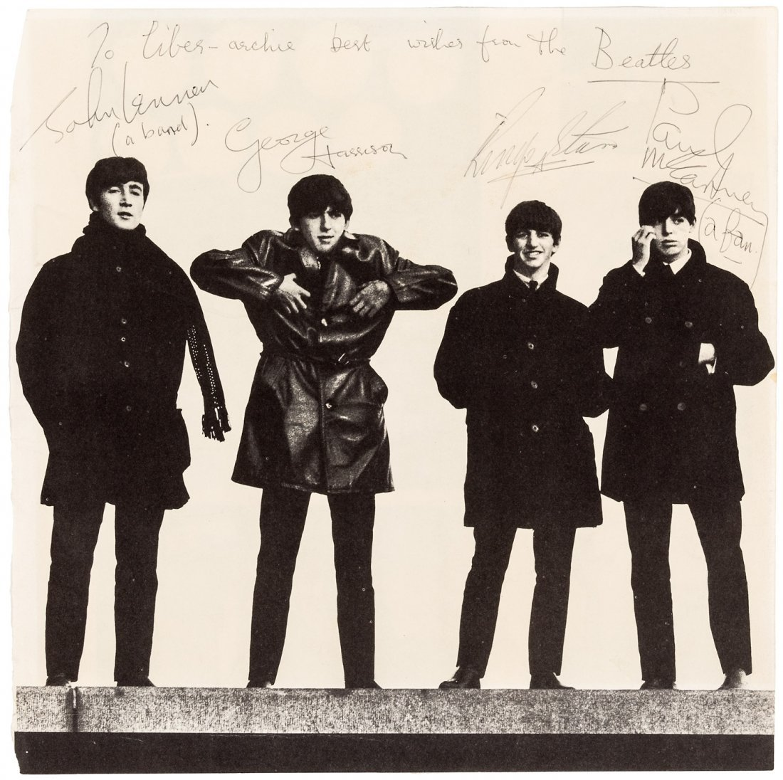 Signed by all four Beatles