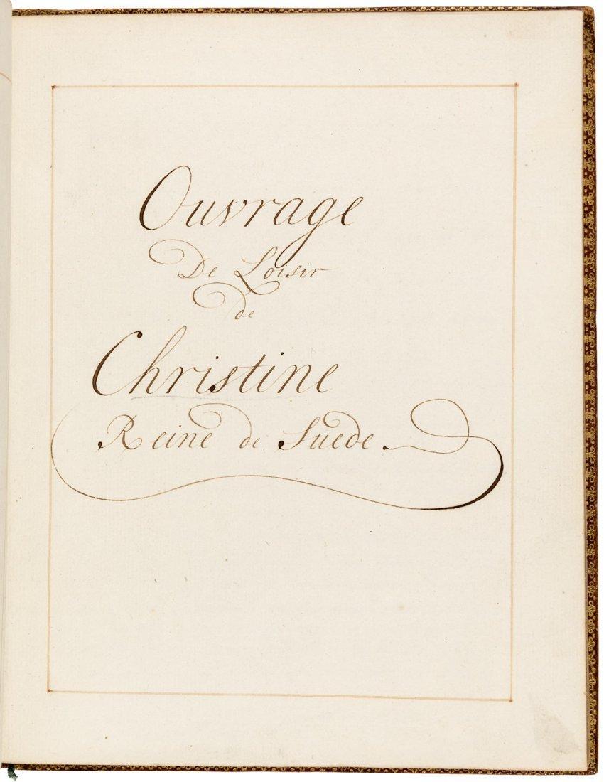 Manuscript copy of the Maxims of Queen Christina of