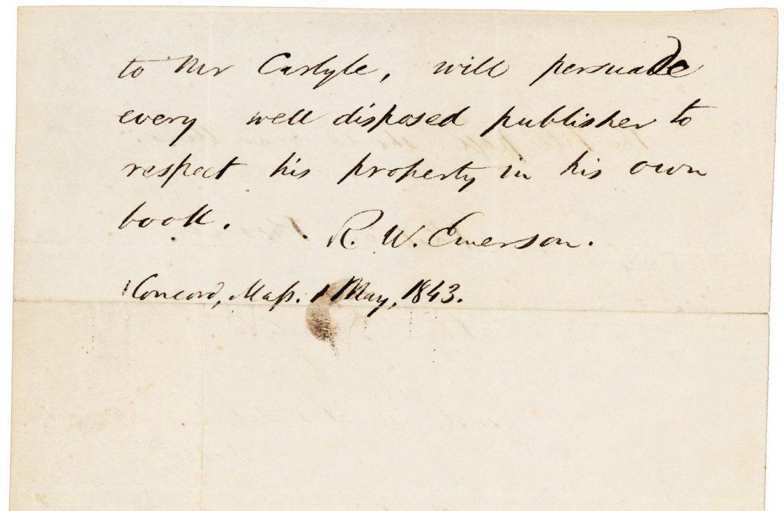 With a manuscript leaf from Ralph Waldo Emerson