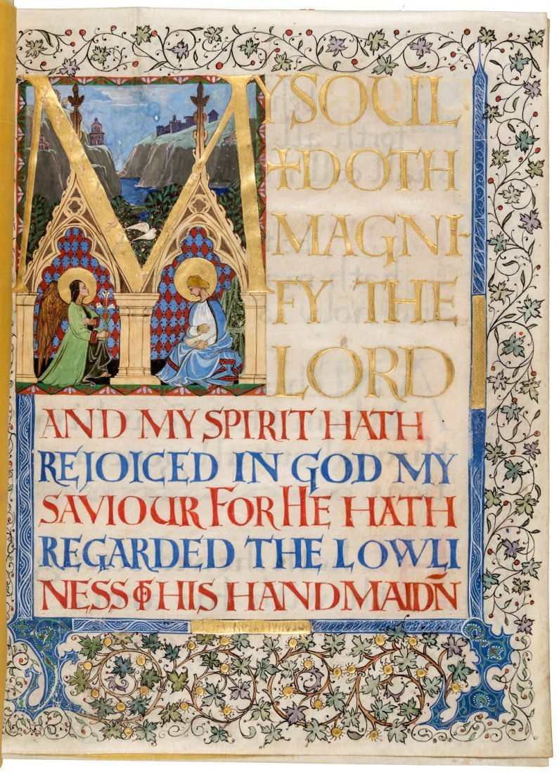 The Magnificat - Illuminated Manuscript