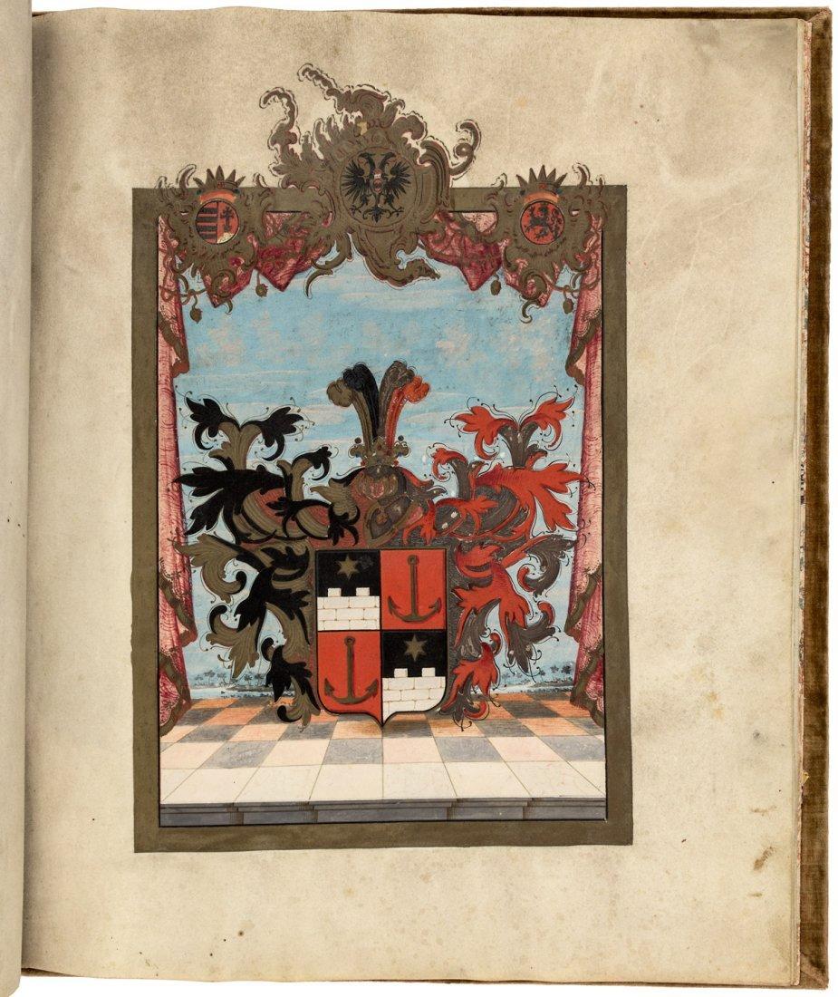 Coat of Arms Folio Manuscript on vellum