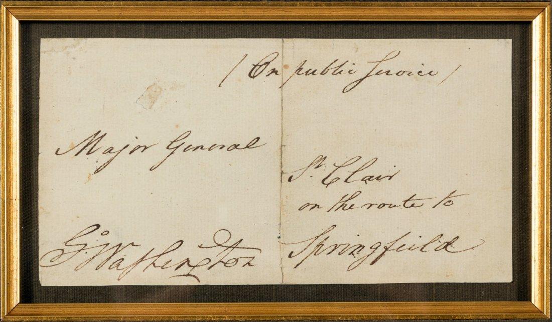 ***WITHDRAWN***George Washington signature on envelope