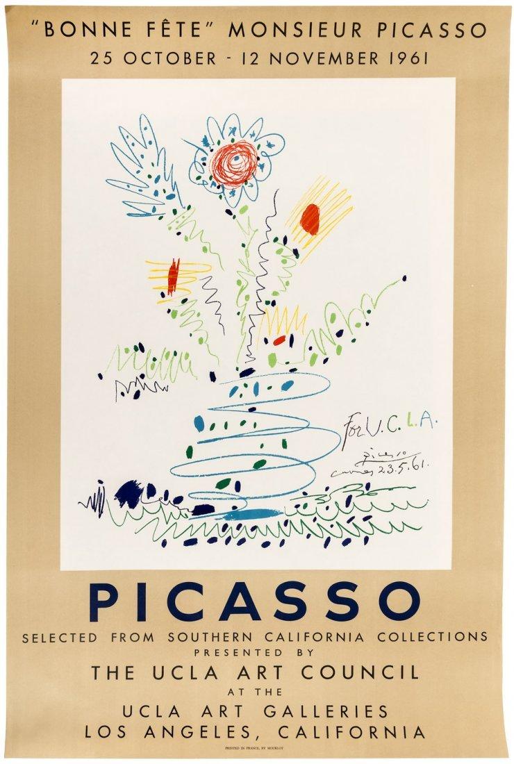 """""""Bonne fête,"""" Monsieur Picasso poster"""