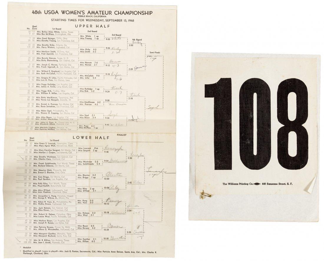 Archive of ephemera & clippings of pro women's golfer