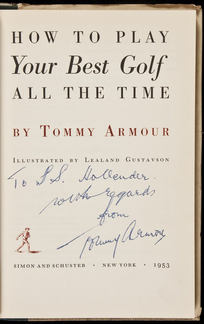 Tommy Armour, How to Play...Best Golf, Signed